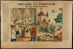 """Bibliothèque de Valenciennes, """"Adélaïde et Ferdinand ou Les trois anneaux"""", estampe, 1839"""