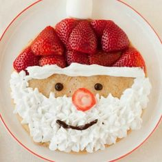 Try these amazing festive recipes that are such sweet treats! This delicious vegan Santa pancake recipe is healthy and your kids will love it!
