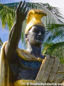 King Kamehameha The Great in Hilo, Big Island, Hawaii
