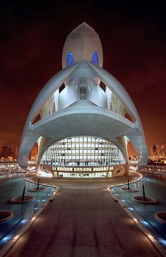 Valencia Opera House, City of the Arts and the Sciences, Spain - Santiago Calatrava