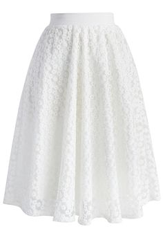 Daisy My Love Organza Midi Skirt - Skirt - Bottoms - Retro, Indie and Unique Fashion