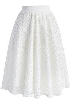 Daisy My Love Organza Midi Skirt - Skirt - Bottoms - Retro, Indie and Unique Fashion