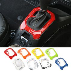 8 Colors can Choices!! New Products for ABS Car Gear Panel Decorative Frame Trim Interior Mouldings for Jeep Renegade 2015 up