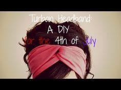 4th of July DIY: No Sew Turban Headbands - YouTube