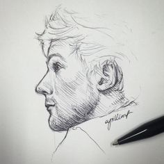 Louis by cyrilliart One Direction Art, One Direction Drawings, Disney Drawings, Cute Drawings, Drawing Sketches, Sketching, Louis Tomlinson, Harry Styles Drawing, Louis Williams