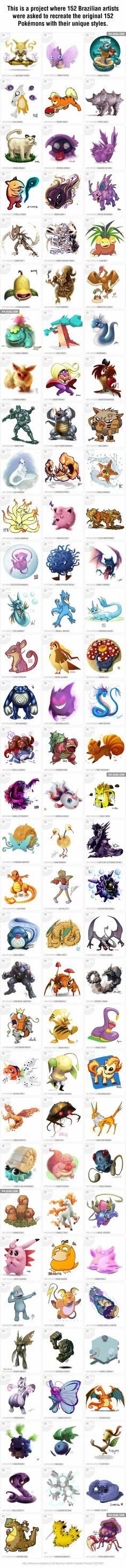 152 Brazilian Artists Pokedex Project