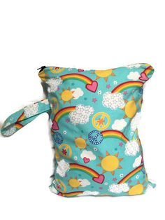 Wet Bag for Cloth Diapers Waterproof Wet Bag by TheFuzzyStitch