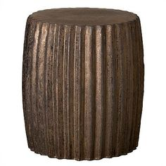 Emissary's ceramic Pleated Garden Stool works great as an individual piece and is extremely impactful in multiples. Featuring a rich, metallic glaze, this modern, contemporary accent can be used as seating anywhere inside or out -- a side table from the living room to the bedroom or to the patio to pool side!