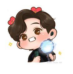 Bts Chibi, Cartoon Art, Cartoon Drawings, Bts Calendar, Taehyung Fanart, Bts Twt, Dibujos Cute, Bts Drawings, Kawaii Doodles