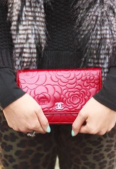 Red Chanel camellia WOC