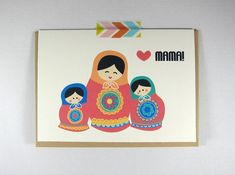 Russian Babooshka Doll Mother's Day Greeting Card by ilootpaperie, $4.25
