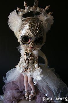 "Amazing Custom Blythe Doll ""La Calavera Catrina"" by Picara RogueDolls"