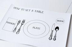 How to set a table via lilblueboo.com