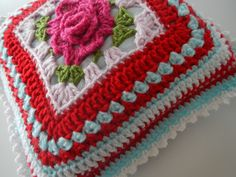 Apple Blossom Dreams: Stash-Buster #26 - Rose pillows, NO freebie, but for inspiration and how to make up cushion out of granny inspire. Lovely work! xox