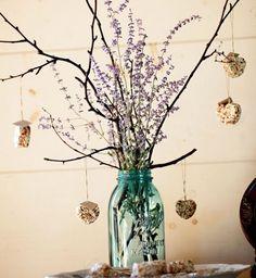 Wedding Centerpiece Favors Birds Love - hearts, personalized, eco friendly favors birds love by Nature Favors | NatureFa