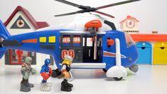 直升飞机把漫威英雄接走了 Helicopter takes marvel heros away
