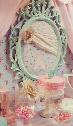 Shabby Chic Birthday Party Decor!  See more party ideas at CatchMyParty.com!