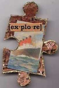 Guide To Altering Puzzles « Techniques Zone Puzzle Piece Crafts, Puzzle Art, Puzzle Pieces, Puzzle Jewelry, Altered Book Art, Creative Arts And Crafts, Expressive Art, Puzzles For Kids, Game Pieces