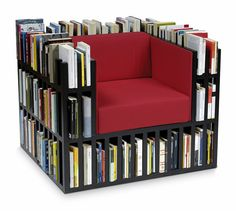 I LOVE LOVE LOVE this chair!!!! You can never find enough book storage.