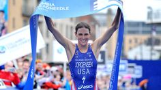In a fairly new name to the elite ITU triathlon world lined up in London to compete in her very first Olympic Games. Competing for the United States of America, this woman unfortunately suffered a flat tire during the bike leg and finished. Gwen Jorgensen, Rio Olympic Games, Rio Olympics 2016, New Names, Leeds, Sports Women, Lineup, Role Models