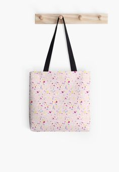 'Party Design' Tote Bag by Shane Simpson Large Bags, Small Bags, Medium Bags, Poplin Fabric, Iphone Wallet, Cotton Tote Bags, Shopping Bag, Retro, Prints