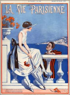 1921-La-Vie-Parisienne-Sur-La-French-Riviera-France-Travel-Advertisement-Poster