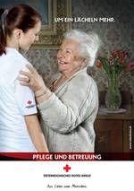 """Um ein Lächeln mehr.    Zufriedene pflegebedürftige Menschen, deutlich entlastete pflegende Angehörige und zufriedene Pflegende zählen bei allen Rotkreuz-Angeboten aus dem Bereich Pflege und Betreuung zu unseren Prämissen.  Im Fokus ist das """"Mehr"""", das den Unterschied macht: """"um ein Lächeln mehr"""" bei der persönlichen Betreuung, """"um die Sicherheit mehr"""" durch die Rufhilfe. Einfach """"um die Menschlichkeit mehr."""""""