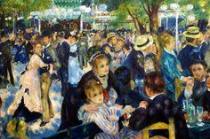PIERRE AUGUSTE RENOIR. Baile en el Moulin de la Galette. 1876. Museo de Orsay, París.