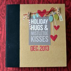 December Daily album created by design team member Teri Anderson using our black SN@P! Binder and Christmas SN@P! set