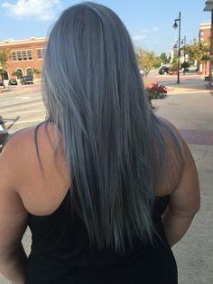 Gunmetal Grey Amanda, Long Hair Styles, Grey, Beauty, Ash, Beleza, Gray, Long Hair Hairdos, Cosmetology