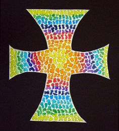 """From exhibit """"Watercolor Cross""""  by Caylin21"""