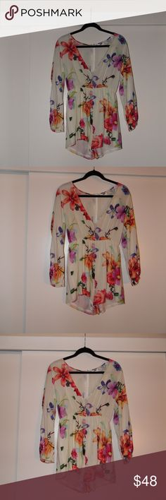 LF Floral Romper Super cute and in great condition LF Rumor Boutique Floral Romper. Size XS, Perfect for a night out on the town. LF Dresses