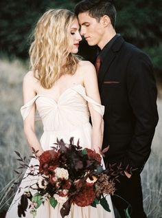 Moody Fall Wedding Shoot with a Dark Fairy Tale Edge   Taralynn Lawton Photography   http://heyweddinglady.com/moody-dark-fairy-tale-wedding-shoot-mountains/