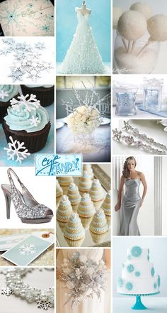An Ice Blue and Silver Winter Wedding Inspiration Board with Snowflakes {from Laura of Eye Candy Event Details}