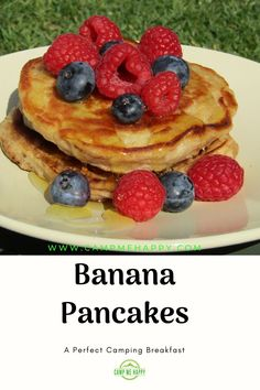 Get the recipe for these delicious banana pancakes. Easy to make which makes them a perfect camping breakfast to put a smile on many a face. Pair with whatever you fancy, they will keep you feeling full for hours.