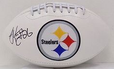 Le'Veon Bell Autographed Pittsburgh Steelers Logo Football JSA ITP