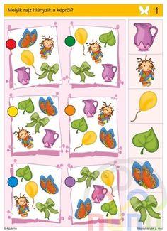 visuele discriminatie voor kleuters / preschool visual discrimination Montessori Activities, Book Activities, Toddler Activities, Preschool Activities, Visual Perception Activities, Cognitive Activities, Mickey Coloring Pages, File Folder Activities, Kids Corner