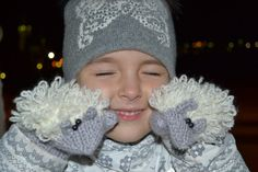 Children Mittens /Winter Fashion Trend/ Children Knitted Cool mittens / Cute Sheep for Children.