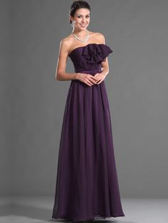 Ruffle Detailed Strapless A Line Floor Length Chiffon Prom Dress Brands:MeiMeiNew Product:YESFreeship:YESModel Name:MaiahTailoring Time (Standard):10-15 DaysTailoring Time (Rush Order):7-10 DaysSilhouette:A-LineNeckline:Straight…