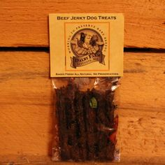 Our all-natural, deliciously chewy beef jerky dog treats are a healthy treat for your favorite canine friend! Made from USDA choice beef, you don't need to worry about contaminated pet food from China. Give your dog some beef jerky dog treats and you will see that once your dog has tasted them, it won't be long before they are looking for more!
