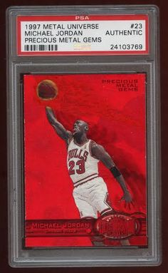 super popular b980e f5afa A year after selling one of the green versions for six figures, Baseball  Card Exchange will offer the red Precious Metal Gems red Michael Jordan-- numbered