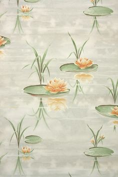1940s vintage wallpaper for a midcentury bathroom remodel