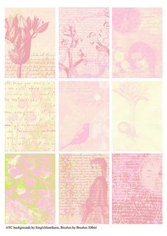 Free pink collection ATC backgrounds