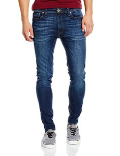 Jack & Jones Herren Jeans JJILIAM JJORIGINAL AM 014 LID - Skinny Fit - Blau  -