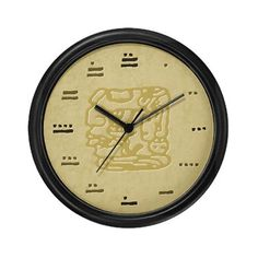 Shop Mayan Numbers Maya Wall Clock designed by TeeblrRich. Lots of different size and color combinations to choose from. Mayan Numbers, Studio Apartment Decorating, Wall Clock Design, Unique Wall Clocks, Inca, Contemporary Design, Prints, Avatar, Body Art