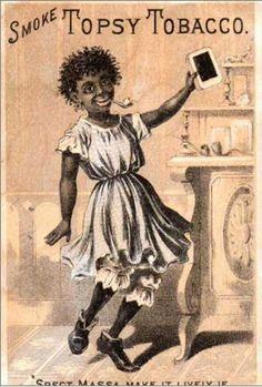 Vintage advertisng illustration: Topsy Tobacco