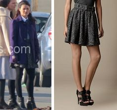 Burberry Wool Blend Skater Skirt as seen on Belle... | Once Upon a Time Finds