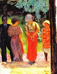 Pierre Bonnard - Conversation In The Park 1922