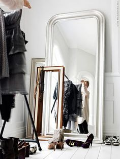 Chic Dressing room & closet. Plus I already own the big mirror