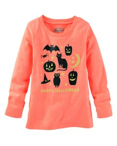 Oohhhh, ahhh! This sweet (and not so scary!) glow-in-the-dark tee is made for celebrating Halloween.